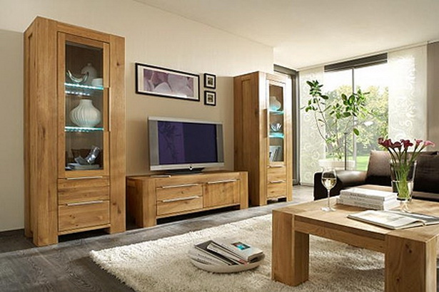 wohnzimmerm bel holz. Black Bedroom Furniture Sets. Home Design Ideas
