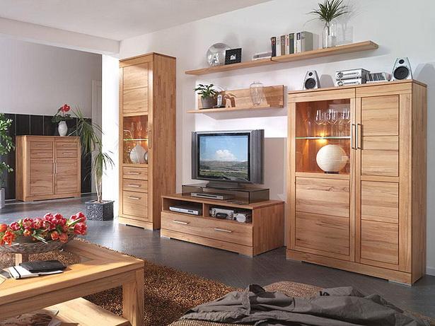 Wohnzimmerm bel massivholz for Wohnzimmerwand braun