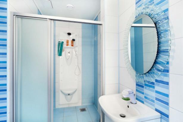 Badezimmer Ideen Bilder Blaue Farbe U2013 Schöne Duschkabine