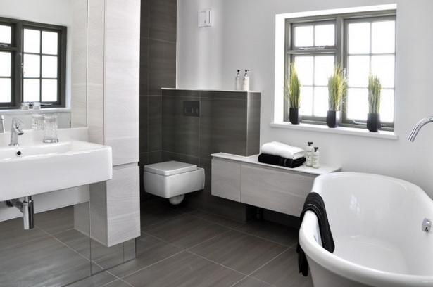 Moderne Bodenfliesen Beispiele : badezimmerbildermoderngrauewandbodenfliesenbadewannefenster