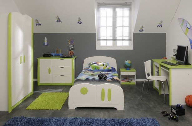 Gr n kinderzimmer - Chambre verte et blanche ...