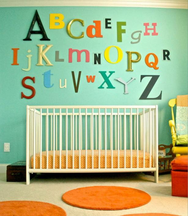 Ideen kinderzimmer gestalten - Baby wandgestaltung ...