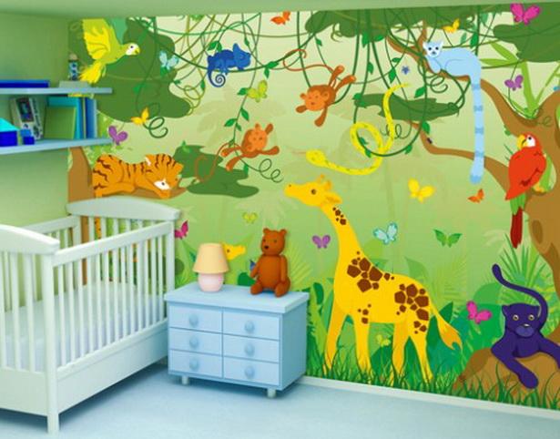 Lustige Dschungel Dekoration Im Kinderzimmer 15 Schone Beispiele Attraktive Deko Holzelemente