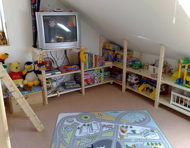 farbgestaltung kinderzimmer mit dachschrage. Black Bedroom Furniture Sets. Home Design Ideas