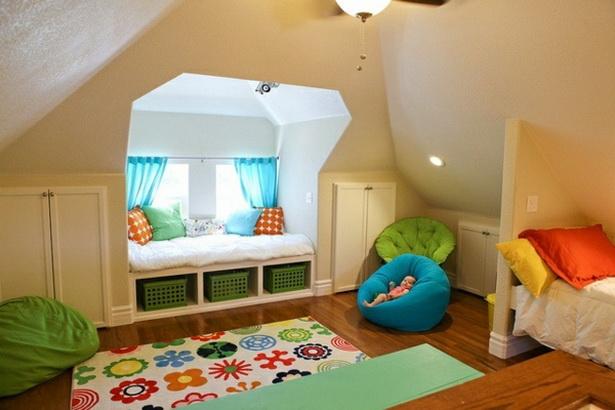 Kinderzimmer Mit Dachschr Ge Gestalten