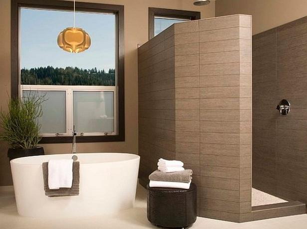 design duschkabine begehbar modern fliesen acryl badewanne armatur einhandmischer - Bad Freistehende Badewanne Dusche