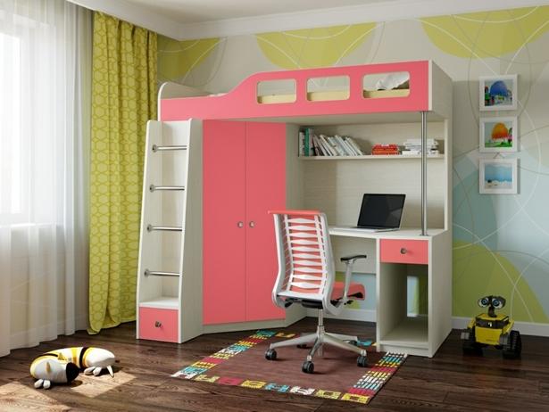 M dchenzimmer mit hochbett - Kinderzimmer platzsparend ...