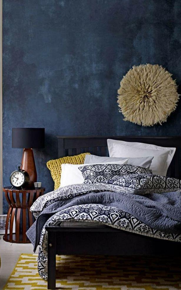 24 Schlafzimmer Wandfarbe Dunkelblau