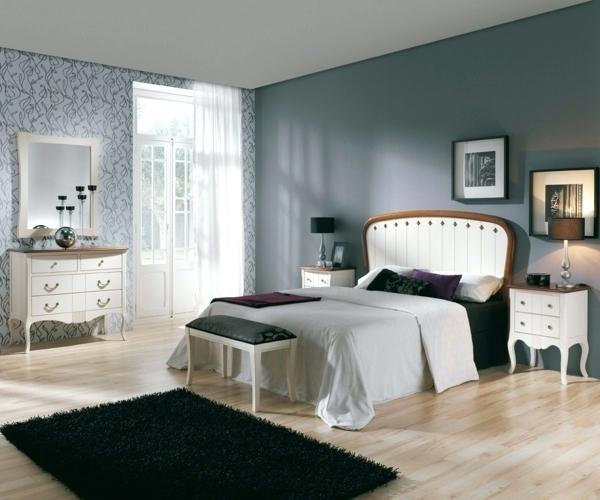50 Blaue Schlafbereiche Die Schlaf: Wandfarbe Schlafzimmer Weisse Möbel