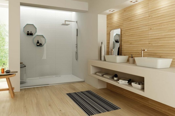 bad fliesen holz. Black Bedroom Furniture Sets. Home Design Ideas