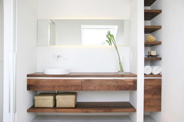 Badezimmer modern holz for Badezimmermobel aus holz