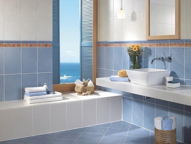 Blaue badezimmer fliesen for Badezimmer beispiele fliesen