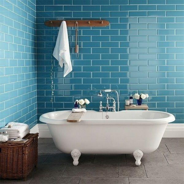 Blaue Badezimmer Fliesen