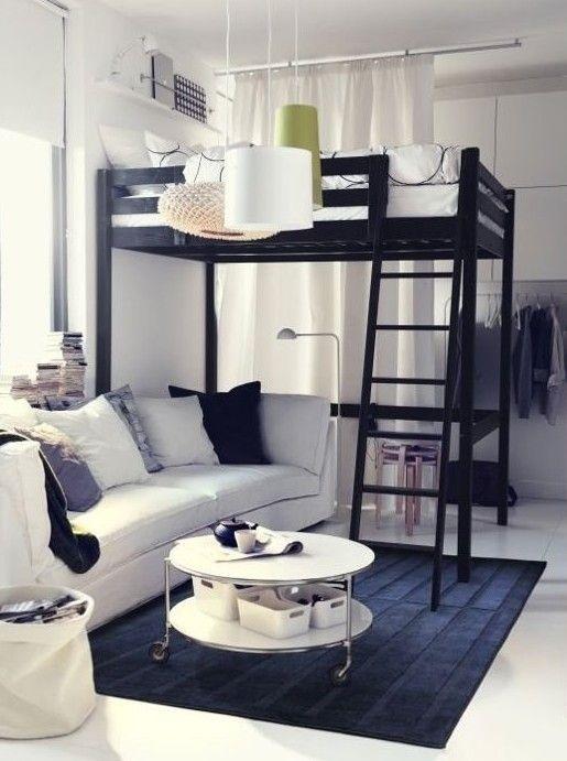 Einzimmerwohnung einrichten ideen for Wohnzimmerecke gestalten
