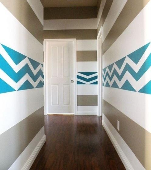 farbgestaltung flur streifen. Black Bedroom Furniture Sets. Home Design Ideas