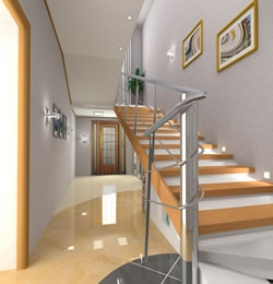 Treppenaufgang Gestalten Bilder flur treppenaufgang gestalten