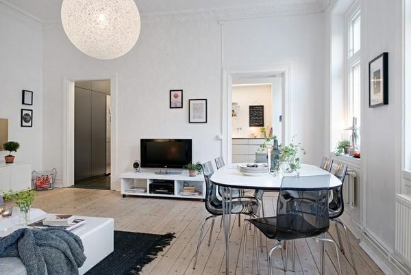 kleines wohnzimmer mit esstisch einrichten. Black Bedroom Furniture Sets. Home Design Ideas