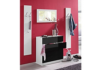 schmaler flur garderobe. Black Bedroom Furniture Sets. Home Design Ideas