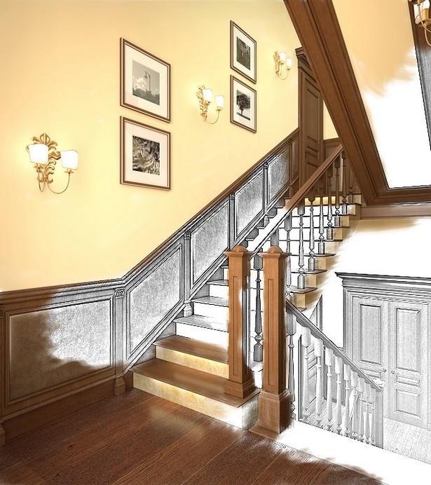 Wandgestaltung Treppenaufgang Gestalten: Treppenhaus Gestalten Ideen