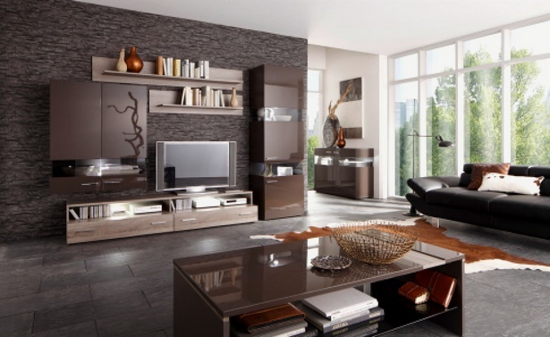 wohnzimmer schwarze m bel. Black Bedroom Furniture Sets. Home Design Ideas