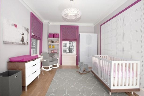 Babyzimmer wandgestaltung m dchen - Babyzimmer tattoo ...