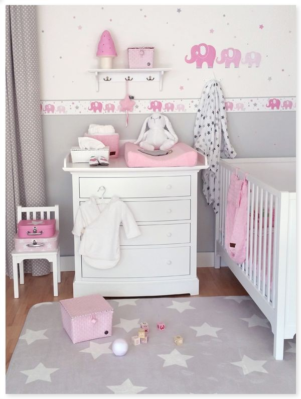 Babyzimmer wandgestaltung m dchen for Flieder grau wandfarbe