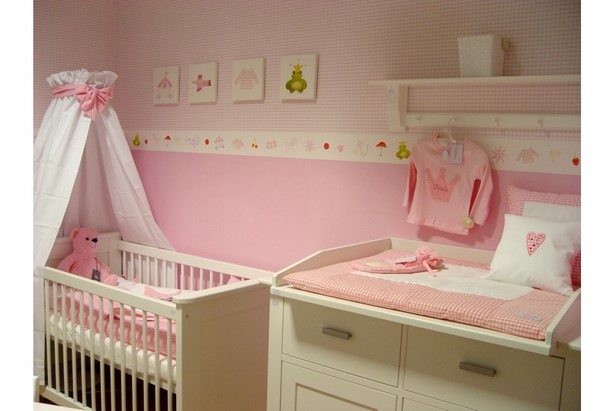 babyzimmer wandgestaltung m dchen. Black Bedroom Furniture Sets. Home Design Ideas