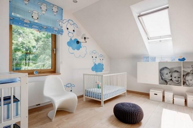 89. babyzimmer dachschräge junge schäfchen deko