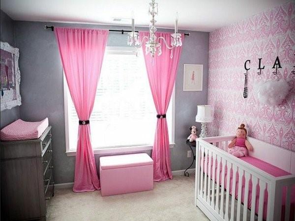 Babyzimmer-Dekoideen-Rosa-Mädchenzimmer