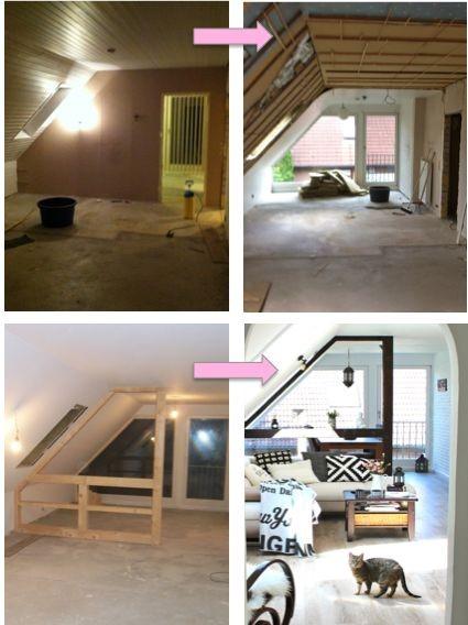 einrichtungsideen dachgeschosswohnung. Black Bedroom Furniture Sets. Home Design Ideas