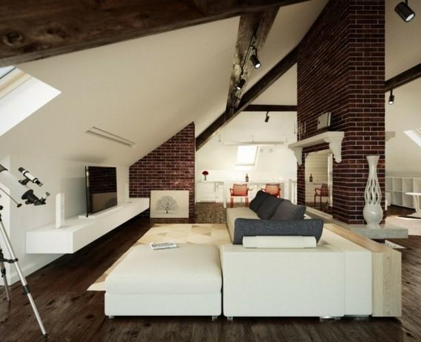 Einrichtungsideen wohnzimmer dachschräge