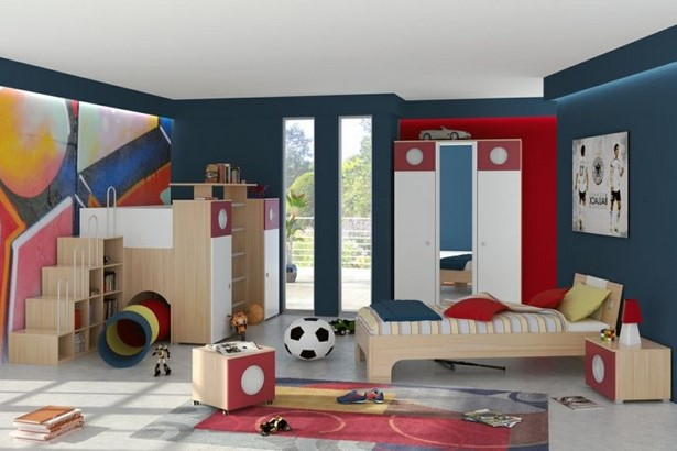 Gro es kinderzimmer for Fussball jugendzimmer komplett