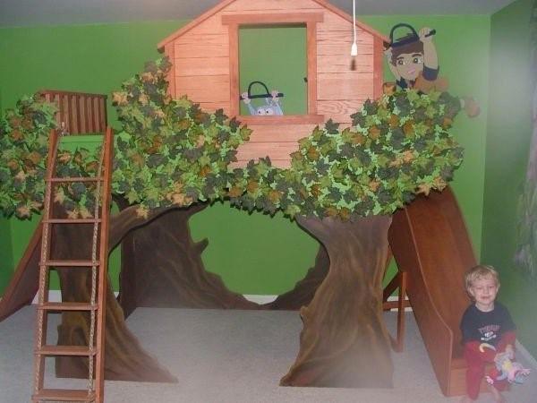 kinderzimmer deko wald. Black Bedroom Furniture Sets. Home Design Ideas
