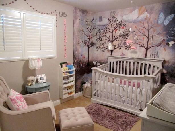 Kinderzimmer deko wald - Baby wandgestaltung ...