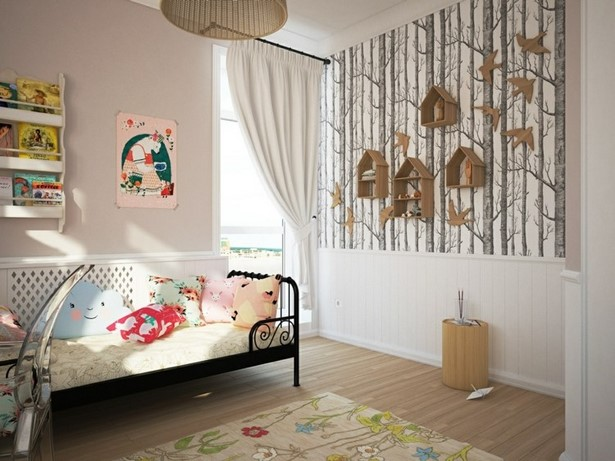 kinderzimmer deko wald. Black Bedroom Furniture Sets. Home Design Ideas