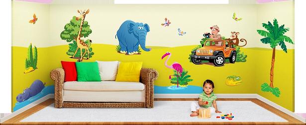 Dschungel Kinderzimmer Gestalten Kleine Growildjger Erzhlen Die Wandbilder Aus Dem Set