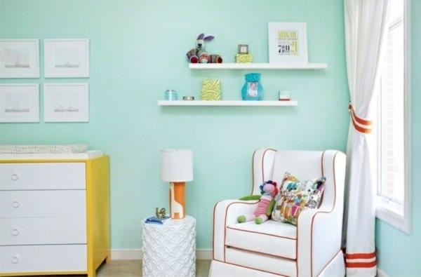 Kinderzimmer Wandfarbe Grun : Kinderzimmer wandfarben beispiele