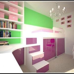 kleines kinderzimmer f r zwei einrichten. Black Bedroom Furniture Sets. Home Design Ideas