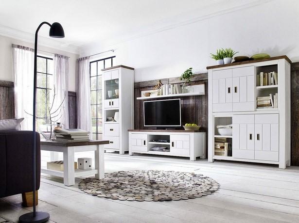 32. Wohnzimmer Weiß Landhausstil:TV Schrank Massiv Weiß / Braun Havanna .