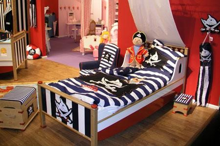 Dekosticker Messlatte Wandtattoo Wandbild Kinder Kinderzimmer Junge Piraten