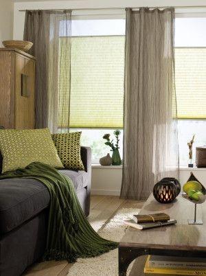 gardinen wohnzimmer schoener wohnen kreative ideen f r. Black Bedroom Furniture Sets. Home Design Ideas