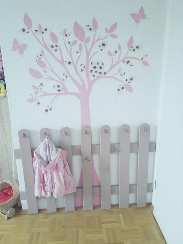 Wandgestaltung babyzimmer m dchen - Bastelideen kinderzimmer ...