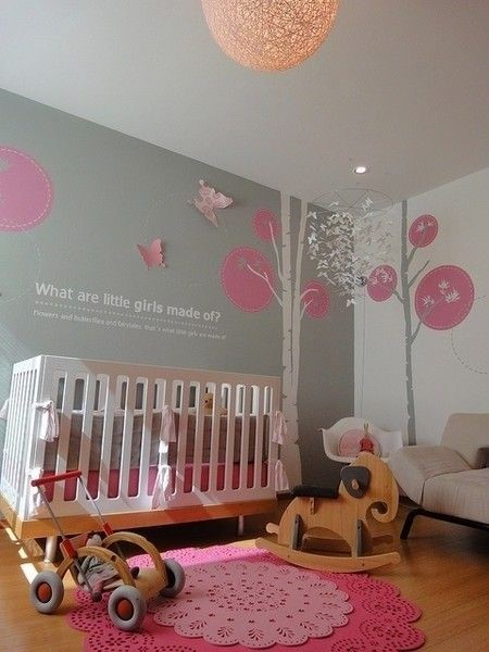wandgestaltung babyzimmer m dchen. Black Bedroom Furniture Sets. Home Design Ideas