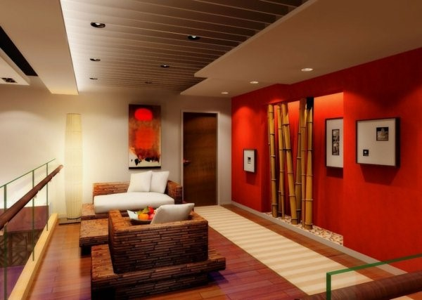 Wohnzimmer deko wand