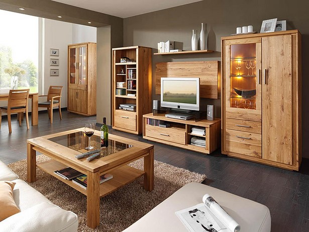 wohnzimmer holzm bel. Black Bedroom Furniture Sets. Home Design Ideas