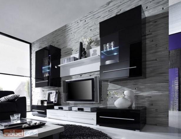 Wohnzimmer schwarz weiß einrichten