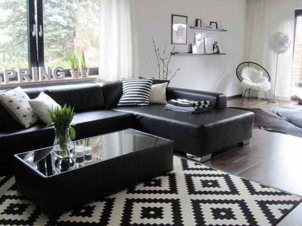 Wohnzimmer schwarz wei einrichten for Einfach schlafzimmer schwarz weis