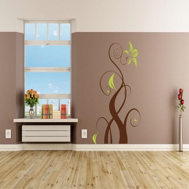 Wand Zweifarbig Streichen