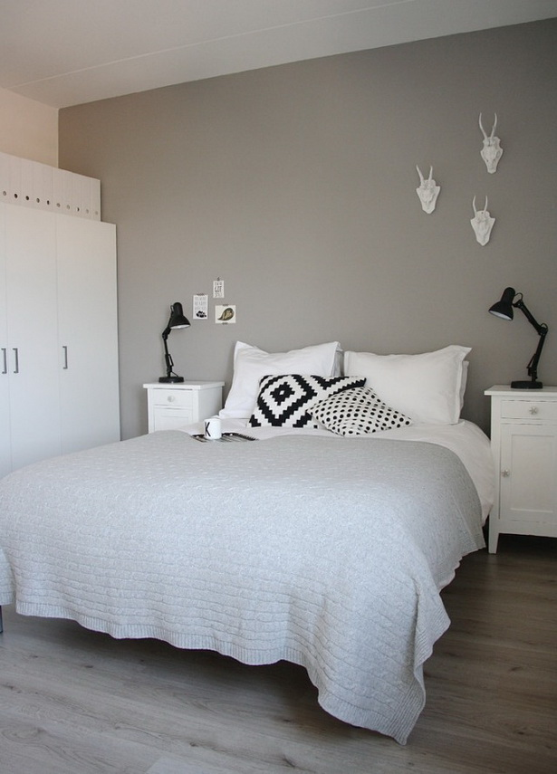 Deko wand schlafzimmer - Schlafzimmer graue wand ...