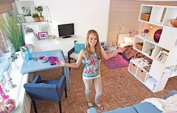 ein zimmer wohnung einrichtungsideen. Black Bedroom Furniture Sets. Home Design Ideas